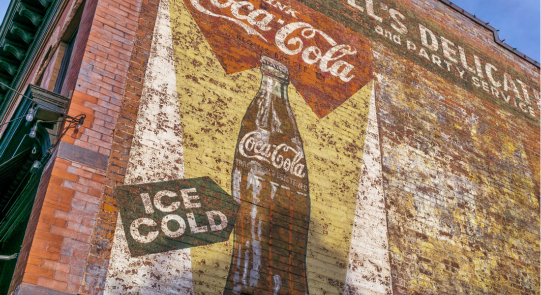 old coca-cola sign painted on building