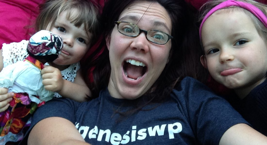 amber, nora, and zara sleeping bag selfie with goofy faces
