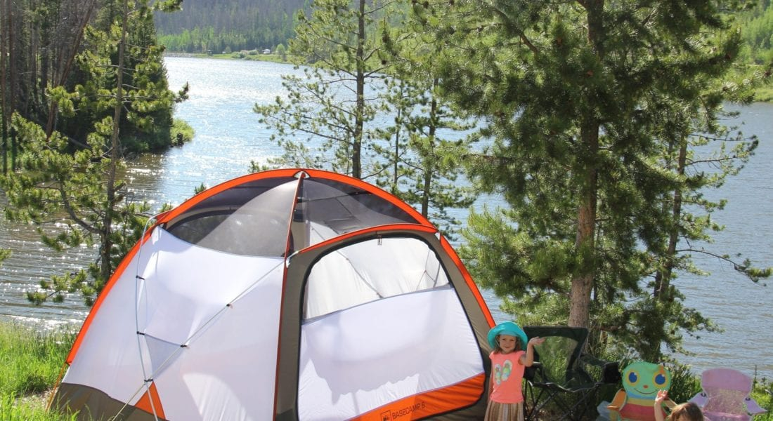 tent camping at State Forest State Park
