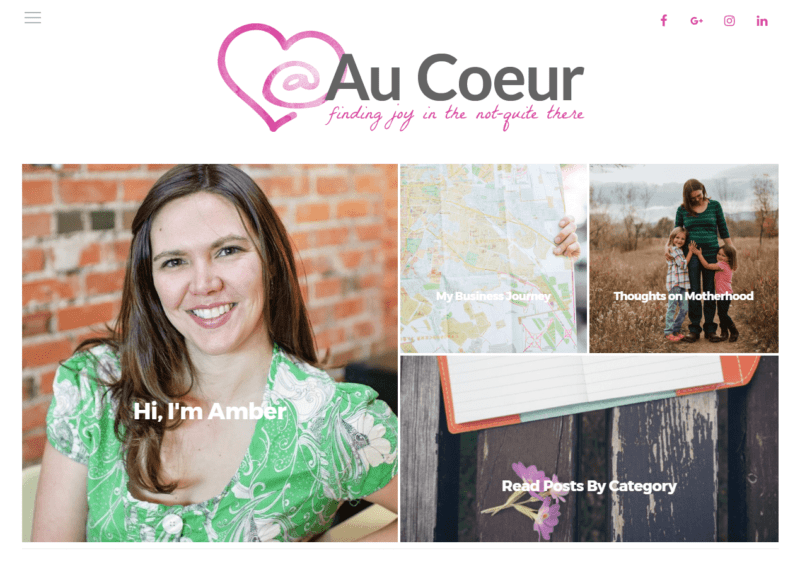 Au Coeur new web design 2017