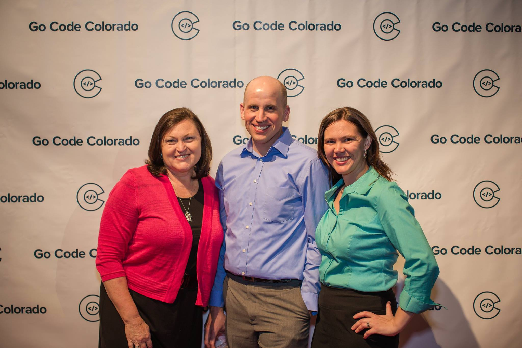 Gretchen, David, and Amber at Go Code Colorado